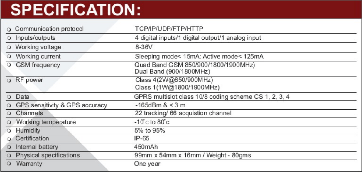 gl100-specification